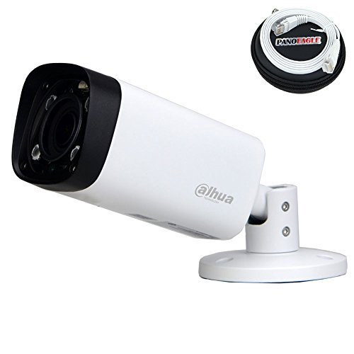Dahua 4MP Bullet POE IP Camera IPC-HFW4431R-Z,2.7-12mm Motorized Varifocal Lens Optical Zoom IP67 IR Day and Night Outdoor Security Surveillance Camera H.264/H.265 ONVIF( 1M PANOEAGLE Cable Included ) (Varifocal Bullet)