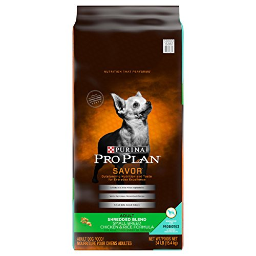 Purina Pro Plan With Probiotics Small Breed Dry Dog Food; SAVOR Shredded Blend Chicken & Rice Formula - 34 lb. Bag