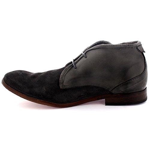 Mens H Av Husdon Kryssning Spetsad Mocka Kontor Tillfälliga Vintage Chukka Boots Grå