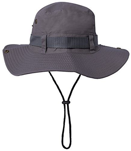21aeb49a33 Fishing Sun Boonie Hat Summer UV Protection Lightweight Cotton Outdoor  Bucket Hunting Cap