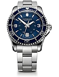 Swiss Army Men's 241602 Maverick Watch with Blue Dial and Stainless Steel Bracelet
