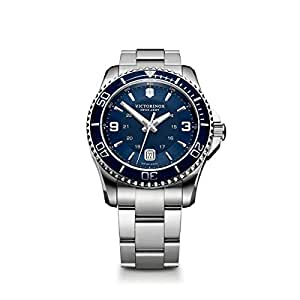 Victorinox Swiss Army Men's 241602 Maverick Watch with Blue Dial and Stainless Steel Bracelet