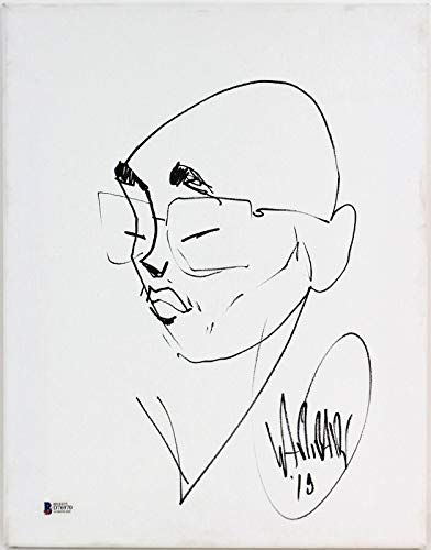 David Garibaldi Tower Of Power Signed 11x14 Self Portrait Canvas BAS #D76970 - Beckett - Signed Self Portrait
