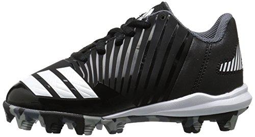 new arrival d3825 8f080 adidas Unisex-Kids Icon MD K Baseball Shoe, Core Black, Ftwr White,