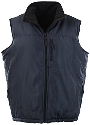 - ChoiceApparel Mens Basic Padded Windbreaker Puffer Vests (Many Styles to Choose from) (XL, 408-Navy)