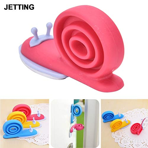 (Lock Toe - 1pc Silicone Snail Animal Shaped Door Stopper Wedge Holder 6.5 2.2 3cm Safety Guard Finger - Magnetic Kids Break Paintable Bronze Bulk Doors Comma Nickel Security Polished Door Met)