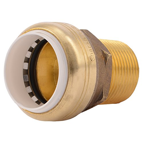 SharkBite PVC Connector UIP140A 1 inch X 1 inch Male NPT Plumbing Fitting ()