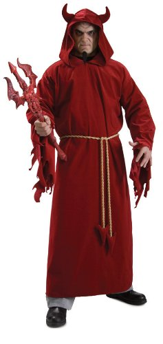 Devil Costumes Adults (Rubie's Costume Demon Lord, Red, One Size Costume)