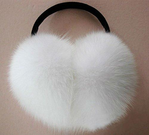 (AKOAK Imitation Rabbit Fur Earmuffs Fashion Warm Woman Warm Ear Cover,White)