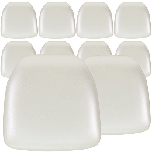 (Flash Furniture 10 Pk. Hard Ivory Vinyl Chiavari Chair Cushion)