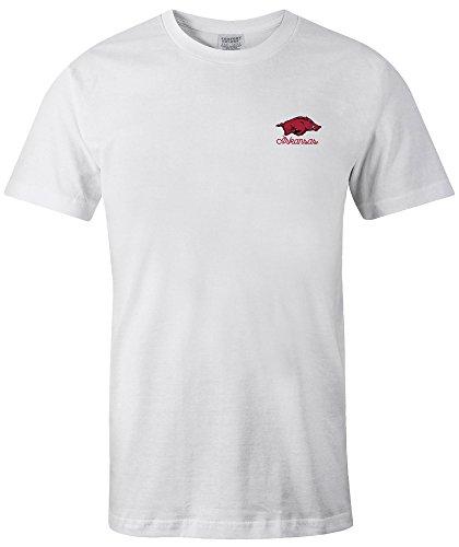 NCAA Arkansas Razorbacks Adult 50 States Comfort Color Short sleeve T-Shirt, X-Large,White