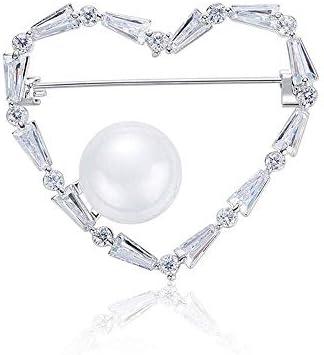 YKJ-YKJ ハイエンドファッションラブマイクロ象眼細工のジルコン真珠の女の子のクリエイティブ服ブローチ、ファッションストリートシュートジュエリー4.1 * 3.6センチメートル ブローチ
