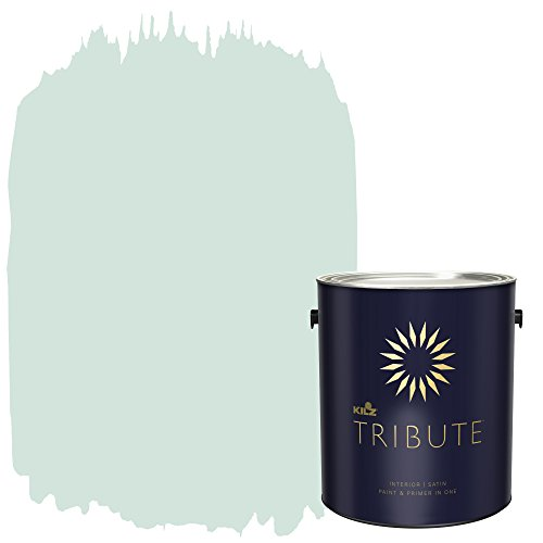 KILZ TRIBUTE Interior Satin Paint and Primer in One, 1 Gallon, Misty Morning (TB-51)