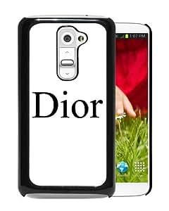High Quality LG G2 Case,Dior Black Logo Black LG G2 Screen Phone Case Unique and Luxury Design