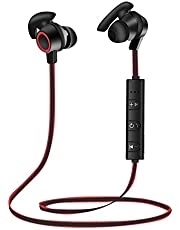 Bluetooth wireless Headphone Headset In-Ear Earbuds Sports Earphones with Mic - AB11 (RED)