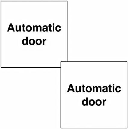 señales de seguridad para puertas correderas kit 06 - carteles ...
