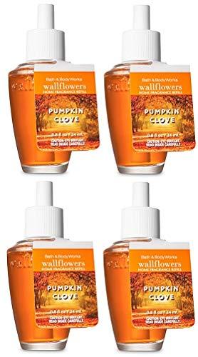 Bath and Body Works 4 Pack Pumpkin Clove Wallflowers Fragrances Refill. 0.8 Oz. by Bath & Body Works