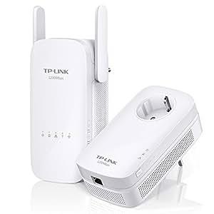 TP-Link AC1200 TL-WPA8630 KIT - Extensor de red por línea (banda dual 1200 Mbps, Powerline, Gigabit, 2 x 2 MIMO, Gigabit, HomePlug, Plug and Play, Clonado Wi-Fi, Wi-Fi Move, Control APP, IPTV)