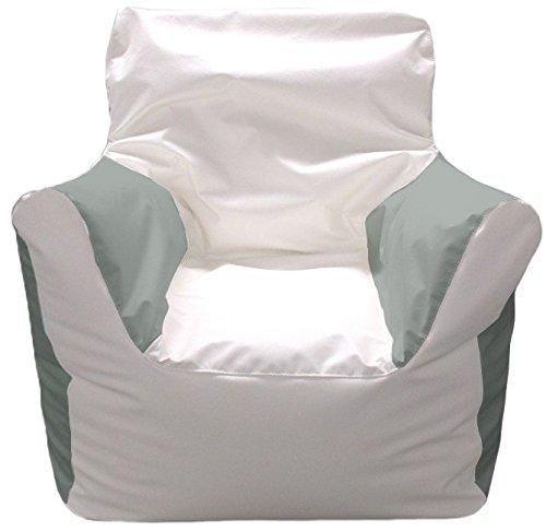 Ocean-Tamer Arm Chair Bean Bag (White/Gray) by Ocean-Tamer Marine Bean Bags