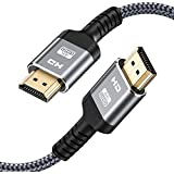 4K 60HZ HDMI Cable,Highwings 6.6FT/2M 18Gbps High Speed HDMI 2.0 Braided Cord-Supports (4K 60Hz HDR,Video 4K 2160p 1080p 3D HDCP 2.2 ARC-Compatible with Ethernet Monitor PS 4/3 HDTV 4K Fire Netflix