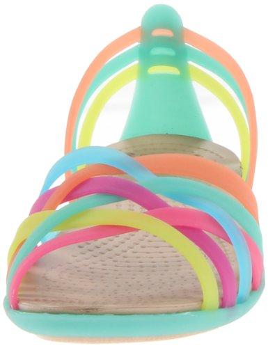 crocs Huarache Flat W 14121-80Z-460 - Sandalias para mujer multicolor/verde