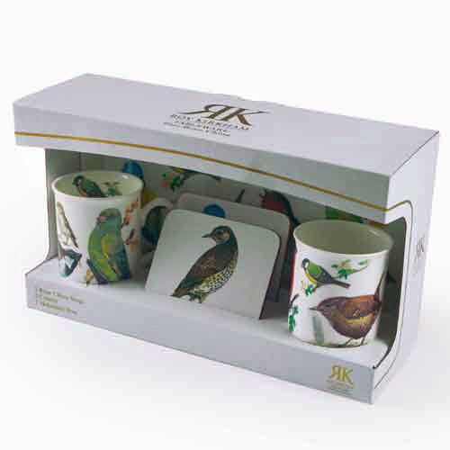 Roy Kirkham Garden Birds Mug, Coaster and Tray Set ()