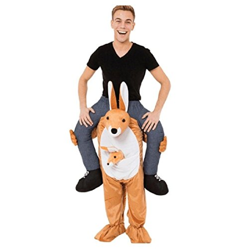 2 Person Donkey Costume (Cartoon Fancy Dress Shoulder Ride On Me Mascot Unisex Novelty Cosplay Costume)