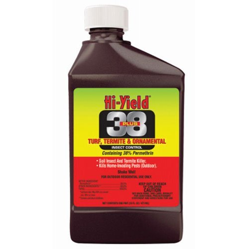 Hi-Yield 38 Plus Permethrin Turf Termite and Ornamental Insect Control, 16 Oz. Bottle by Hi-Yield