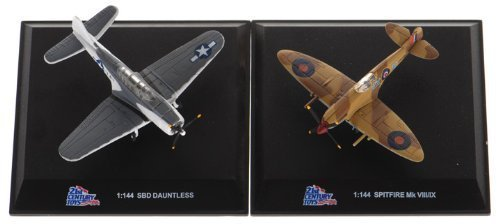 21st Century Toys Aircraft (Spitfire MK VIII/IX & SBD Dauntless 1:144 scale WWII Aircraft Two Pack)