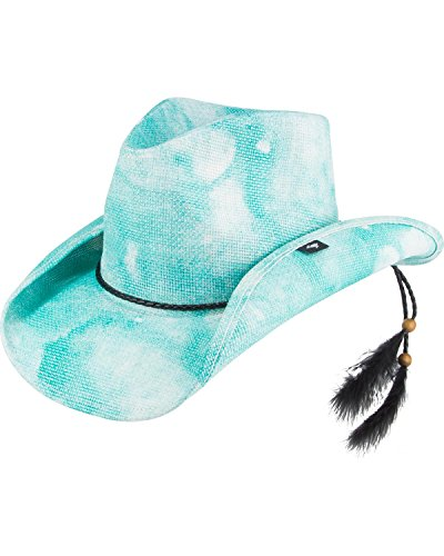 Peter Grimm Ltd Women's Althea Printed Cowgirl Hat Aqua One Size