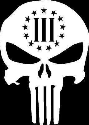 Amazon 3 percenter skull punisher gun rights white vinyl car 3 percenter skull punisher gun rights white vinyl carlaptopwindowwall decal publicscrutiny Gallery