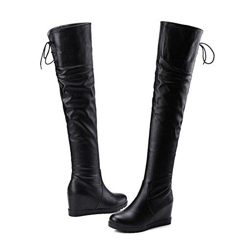 COOLCEPT Black Stiefel Mode Hohe Damen IwfrxqzI