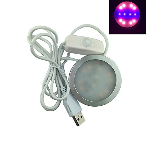 Snkey LED Grow Light, 5W Grow Bulb, USB Powered Indoor Plant Light Buld with US Adapter