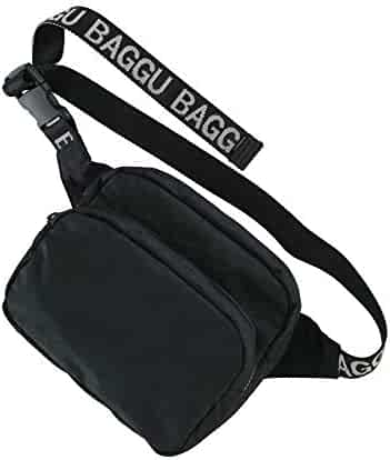 BAGGU Fanny Pack, Fashion Forward and Easy to Carry, Black