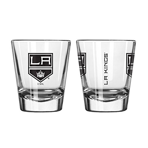 Official Fan Shop Authentic NHL Logo 2 oz Shot Glasses 2-Pack Bundle. Show Team Pride at home or your Bar. Game time glasses for a goodnight (Los Angeles Kings) ()