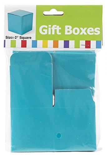 Mini Turquoise Gift Boxes (24 Pack) Blue Mini Gift Box