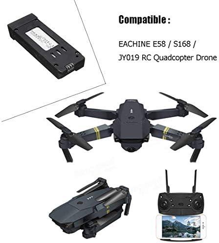 HYF STONE E58 RC Drone 3.7V 500MAH Batteria con Caricabatterie per S168 WiFi RC Quadcopter Drone Ricambi (5pcs)
