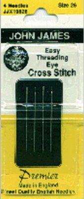 Easy Threading (Calyxeye) Hand Needles -Size 26 4/Pkg John James Easy Threading Needles