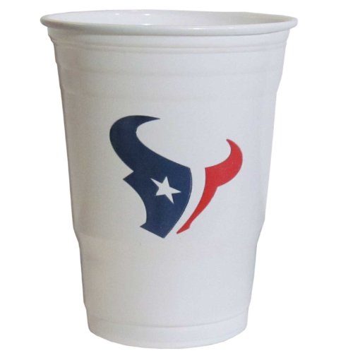 NFL Siskiyou Sports Houston Texans Plastic Game Day Cups, 18 Count, (18 oz) Team Color
