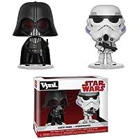 Funko- Vynl Figuras de Vinilo Star Wars Darth Vader+Stormtrooper,, Estándar (31616)