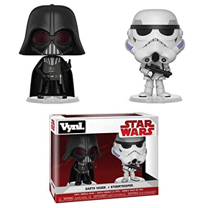 Funko Vynl Figuras de Vinilo Star Wars Darth Vader+Stormtrooper, Multicolor, Estándar (31616)
