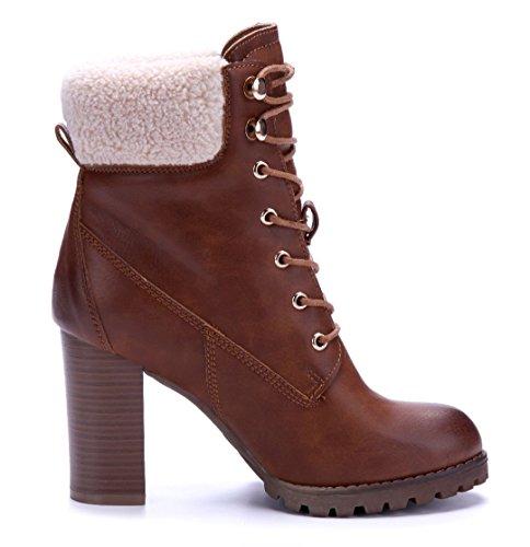 ed11f1787fe7 ... 9 Schuhe Blockabsatz Boots Damen Camel Stiefel Klassische cm  Stiefeletten Schuhtempel24 Pvx40qaw ...