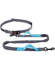 YIHATA Hands Free Dog Leash for Medium and Large Dogs,Running Walking Jogging Training Hiking, Retractable Bungee Dog Running Leash
