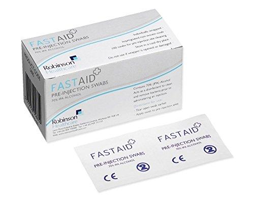 Fast Aid 5885 Tupfer zur Vorinjektion, 70% Alkohol, 100 Stück