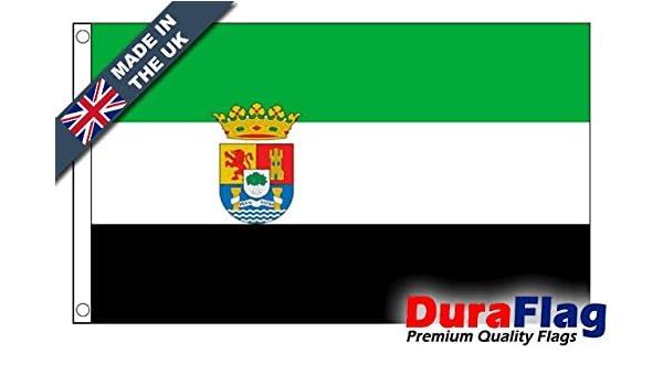 Durable aflag® Extremadura Super Calidad Bandera, 45cm x 30cm: Amazon.es: Jardín
