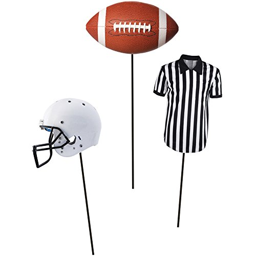 Creative Converting 18-Count Centerpiece Sticks, Football