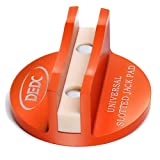 DEDC Advanced Grooved Universal Magnetic Jack Pad Pinch Weld Frame Rail Adapter (Orange)