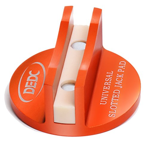 DEDC Universal Aluminum Grooved Magnetic Jack Pad Jacking Puck Pinch Weld Frame Rail Adapter (Orange) ()