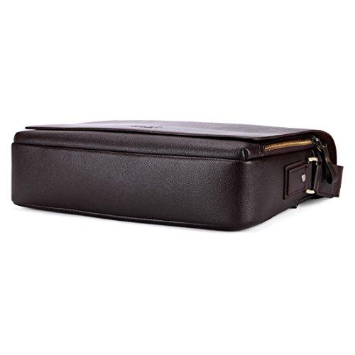 VICUNA POLO - Bolso al hombro para hombre negro negro 17*19*7cm marrón