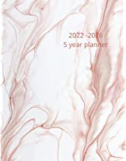 2022-2026 5 year planner: monthly calendar from Jan 2022 to Dec 2026